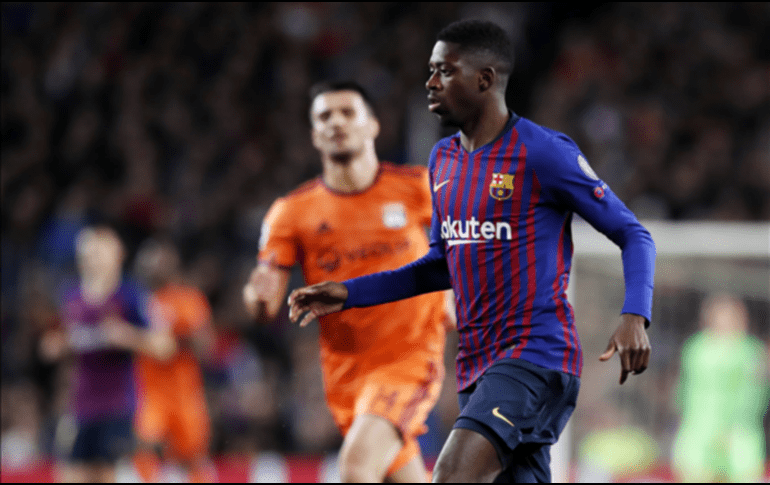 Dembélé sufre una rotura muscular y será baja del Barcelona