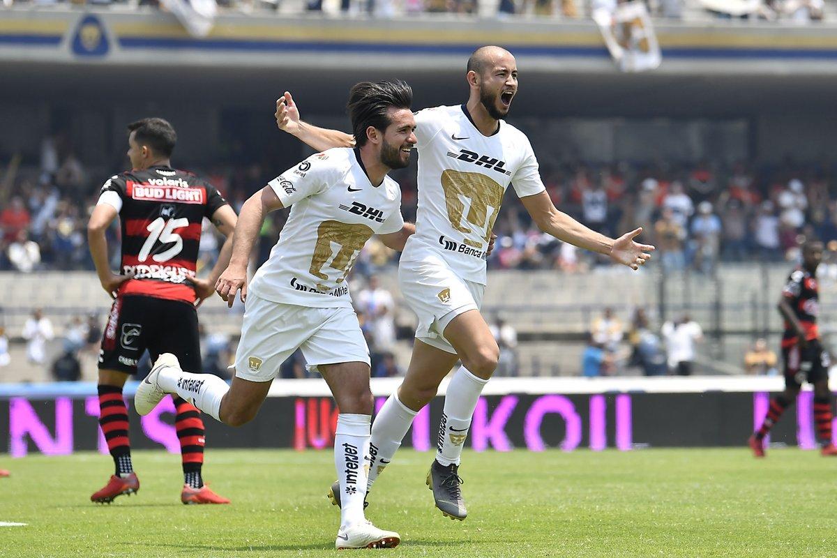 Pumas de la UNAM vence a Xolos de Tijuana