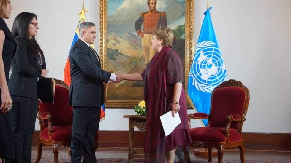 Oposición es responsable de 77 asesinatos, dice Fiscal venezolano a Bachelet