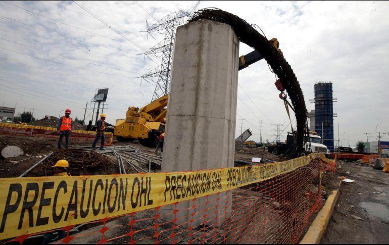 SCT reporta irregularidades en construcción del tren México-Toluca